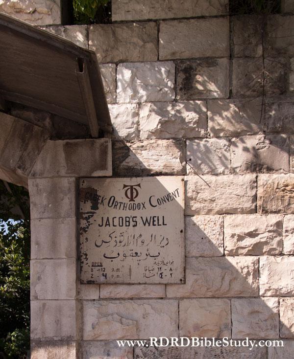 RDRD Bible Study Jacob's Well Sign