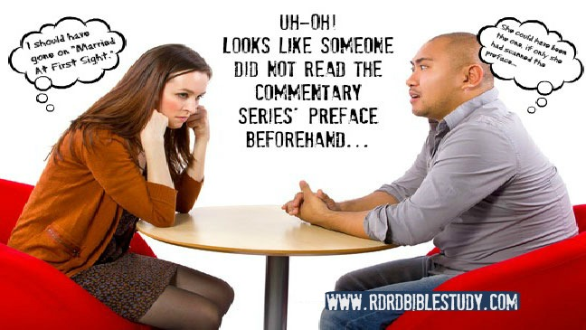 RDRD Bible Study Context of Commentaries Bad First Date