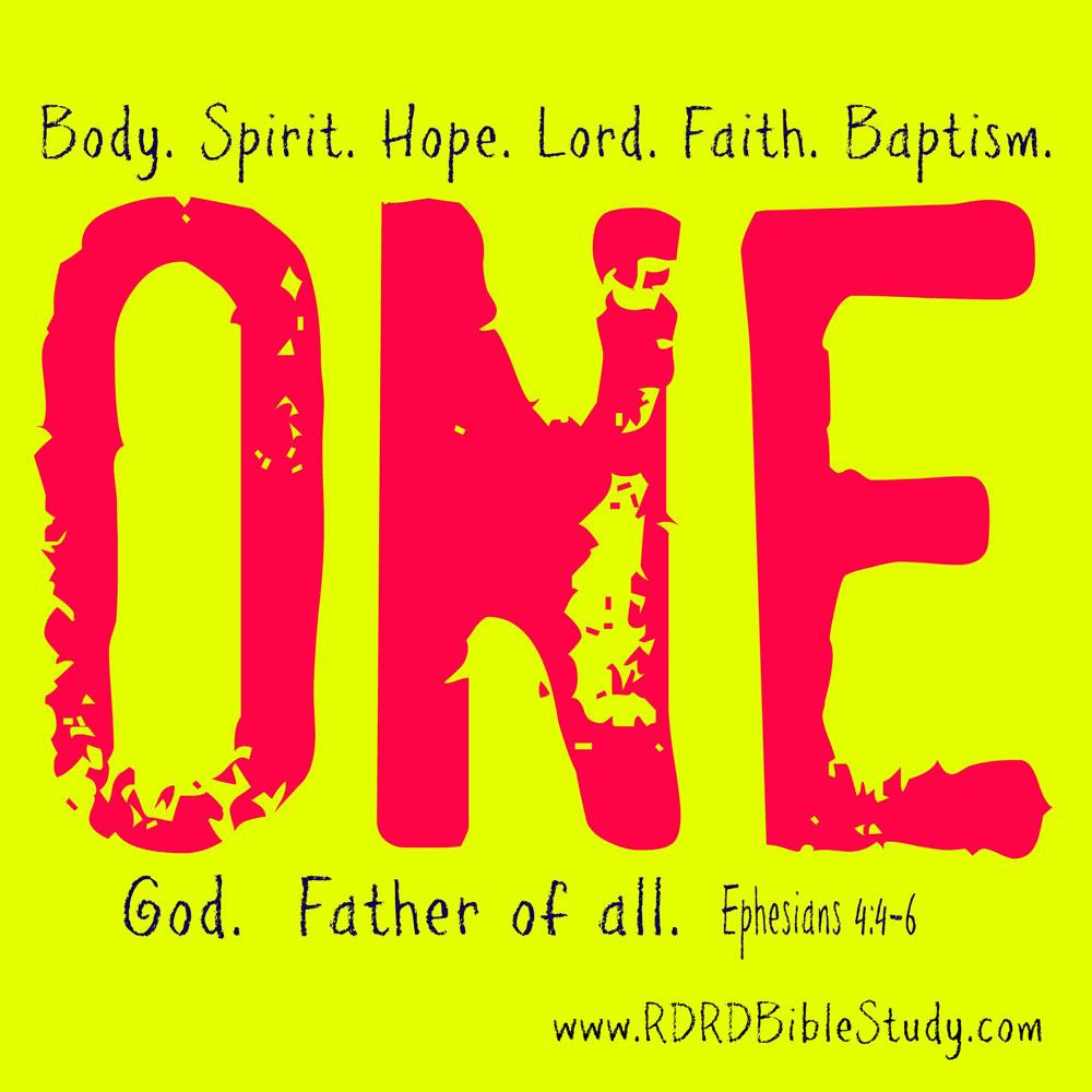 RDRD Bible Study Ephesians 4:4-6