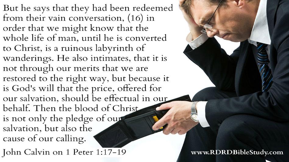 RDRD Bible Study NT Word Study Ransom John Calvin quote