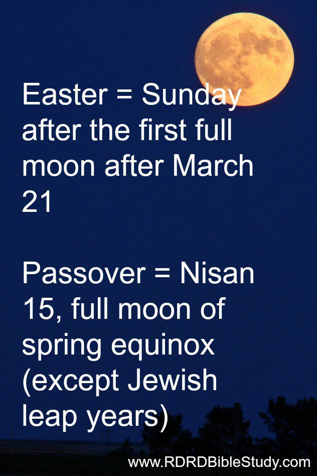 RDRD Bible Study When is Easter and Passover