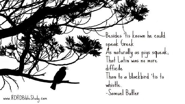 RDRD Bible Study Bible Versions 103 Butler Blackbird Linguistics