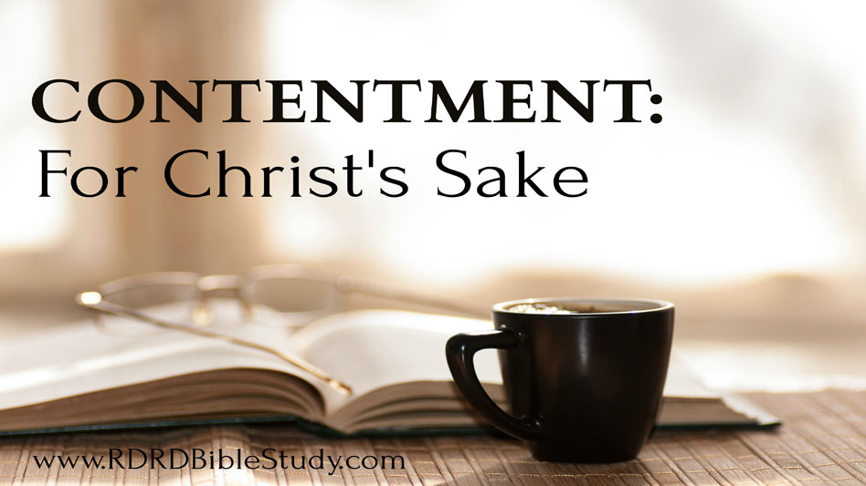 Contentment: For Christ's Sake