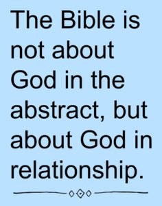 RDRD Bible Study Theological Context Bible about God In Relationship