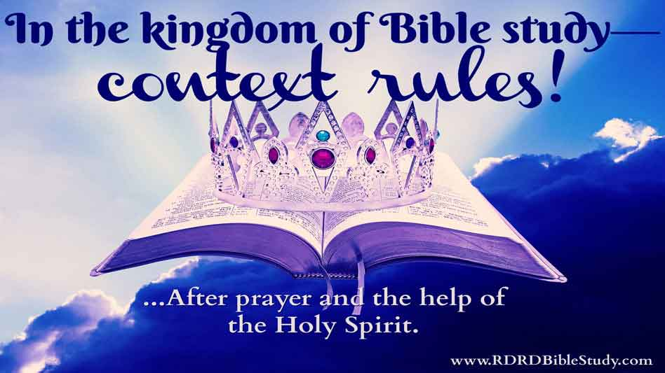 RDRD Bible Study Context Rules