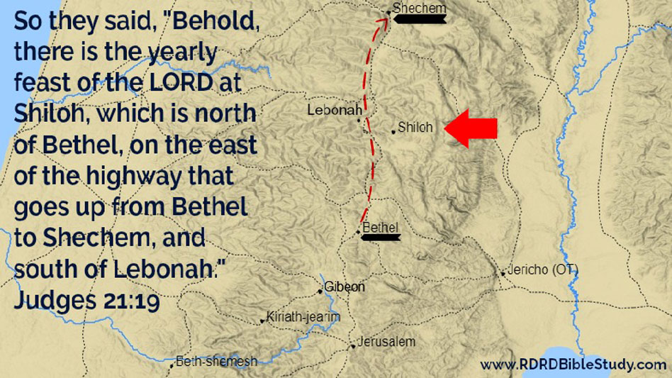 RDRD Bible Study Judges 21 19 Road From Bethel To Shechem Israel