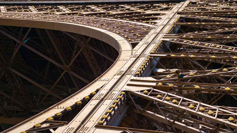RDRD Bible Study Literary Structural Relationships Eiffel Tower Closeup
