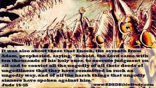 RDRD Bible Study Jude 14 15 10000 Angels