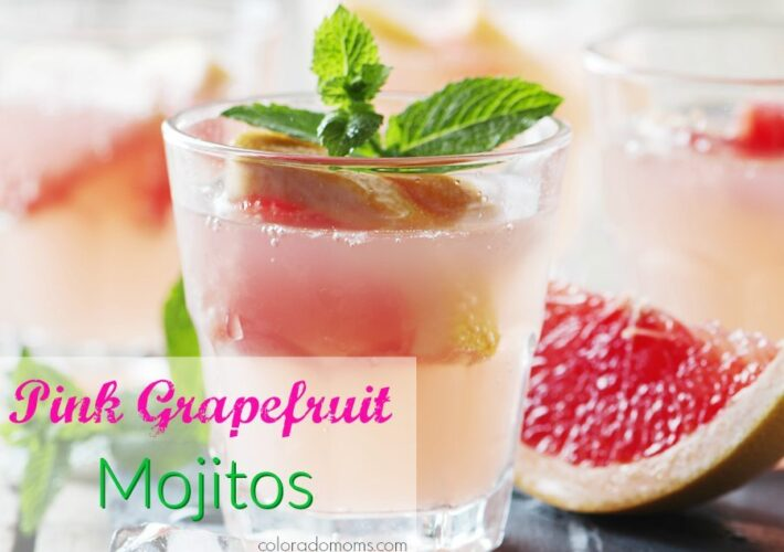 Pink Grapefruit Mojitos