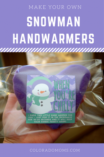 Have the kids make their own adorable, toasty warm snowman handwarmers!