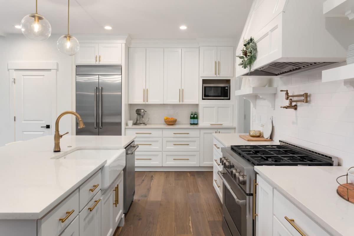 elegant kitchen, furnished and staged
