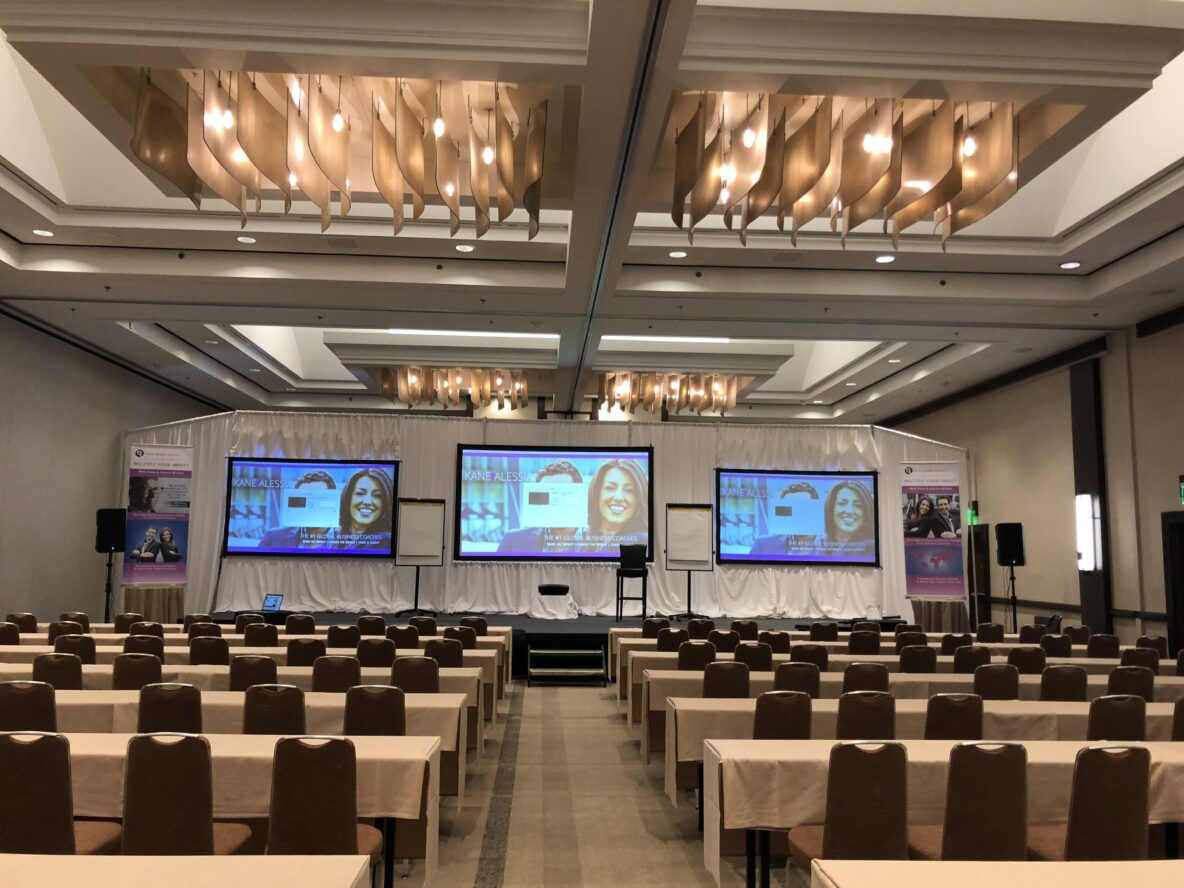 A conference event that was created and planned by a event planner.