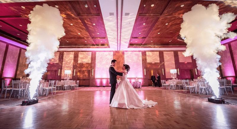 GEYSER VERTICAL FOG MACHINE RENTAL For A WEDDING EVENT