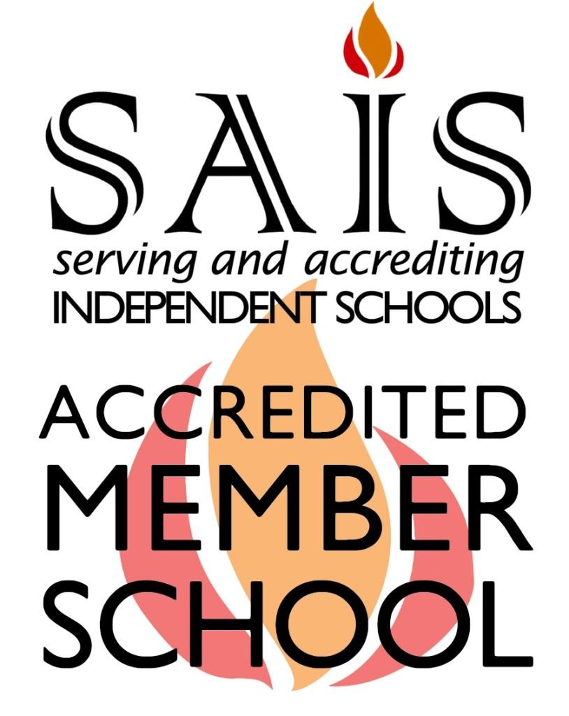 ACCREDITED SAIS logo for schools - white