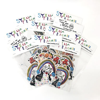 stella peaches sticker pack