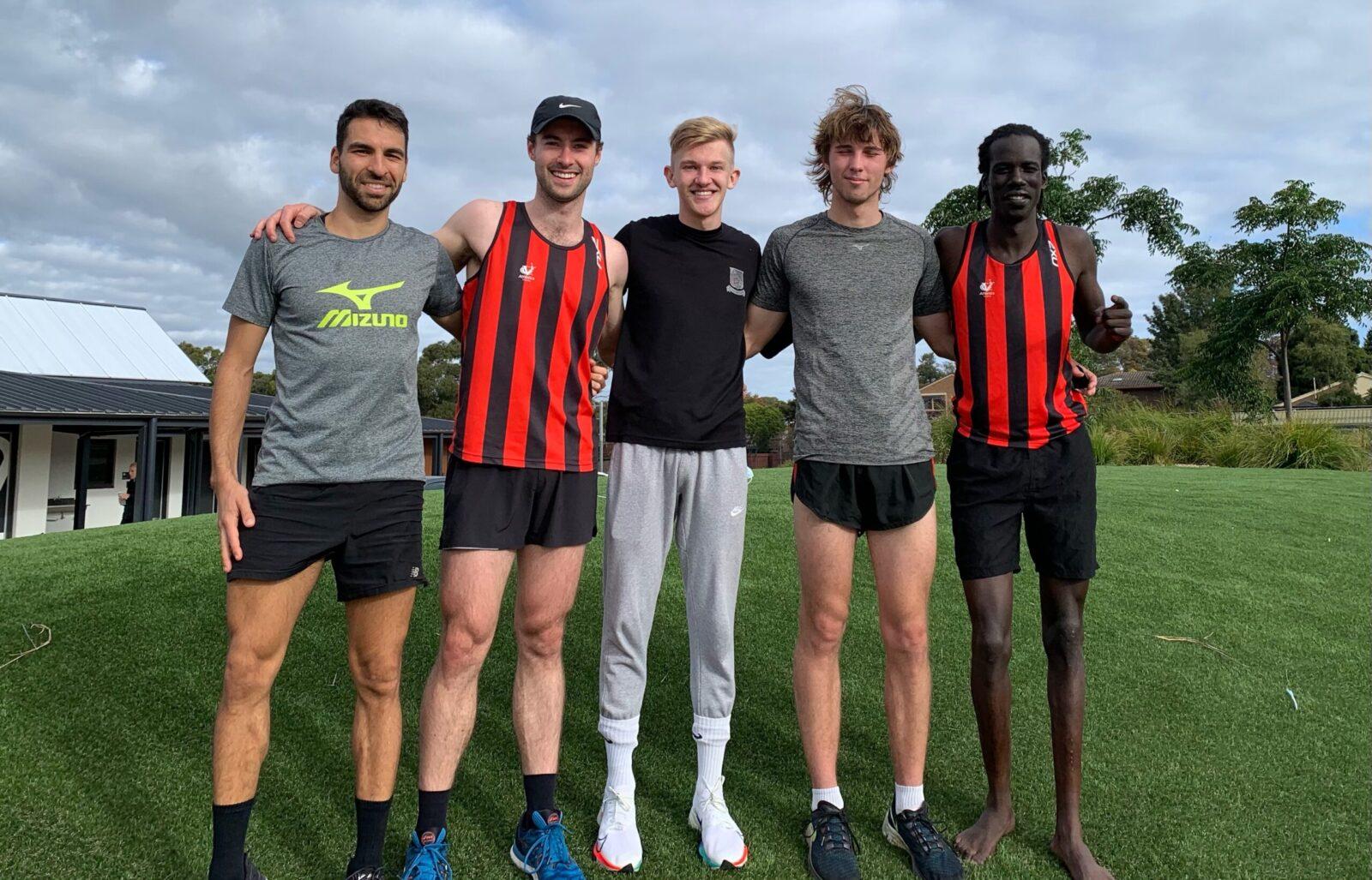 Five runners