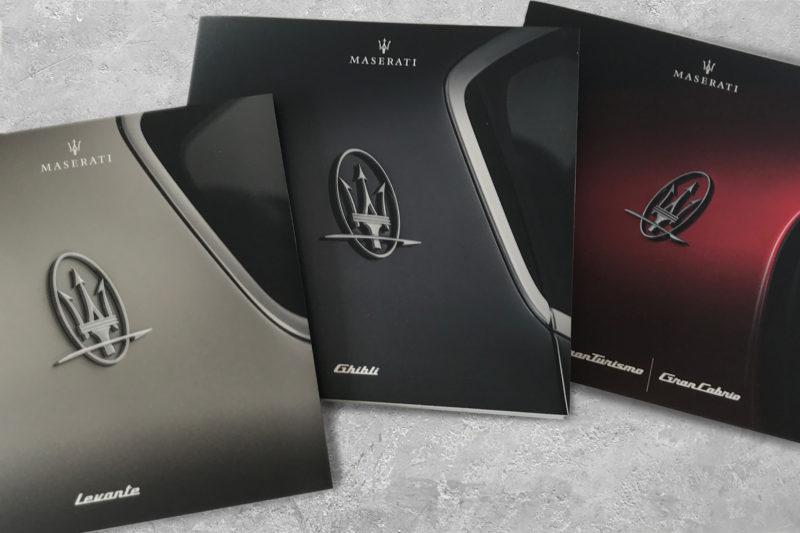 Maserati brochures
