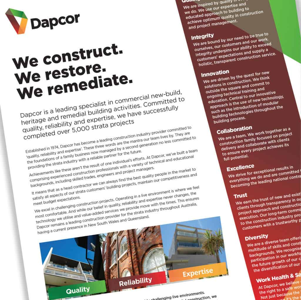 Dapcor brochure