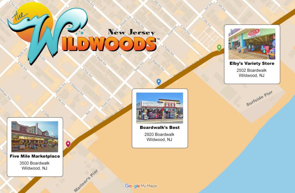 Wildwood Boardwalk map