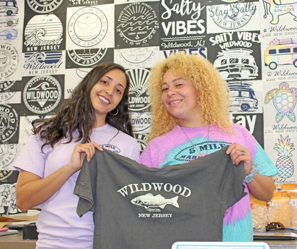 Wildwood Boardwalk screenprinting