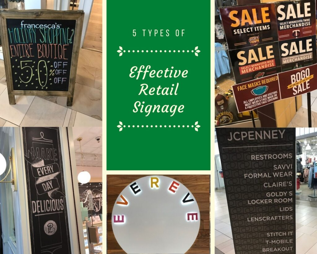 Shopping Made Simple: 5 Types of Effective Retail Signage 1