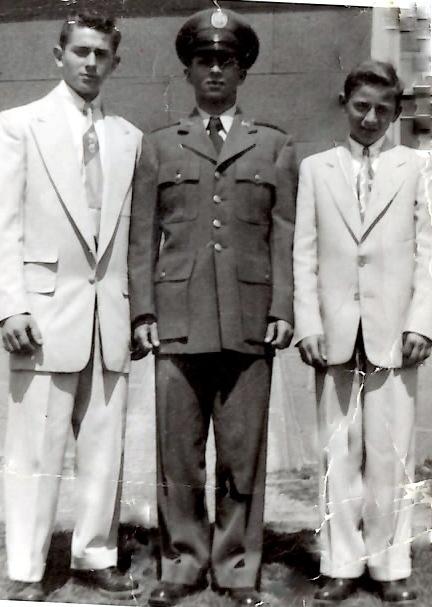 Joseph Rinaldi and his brothers Robert and John in 1954