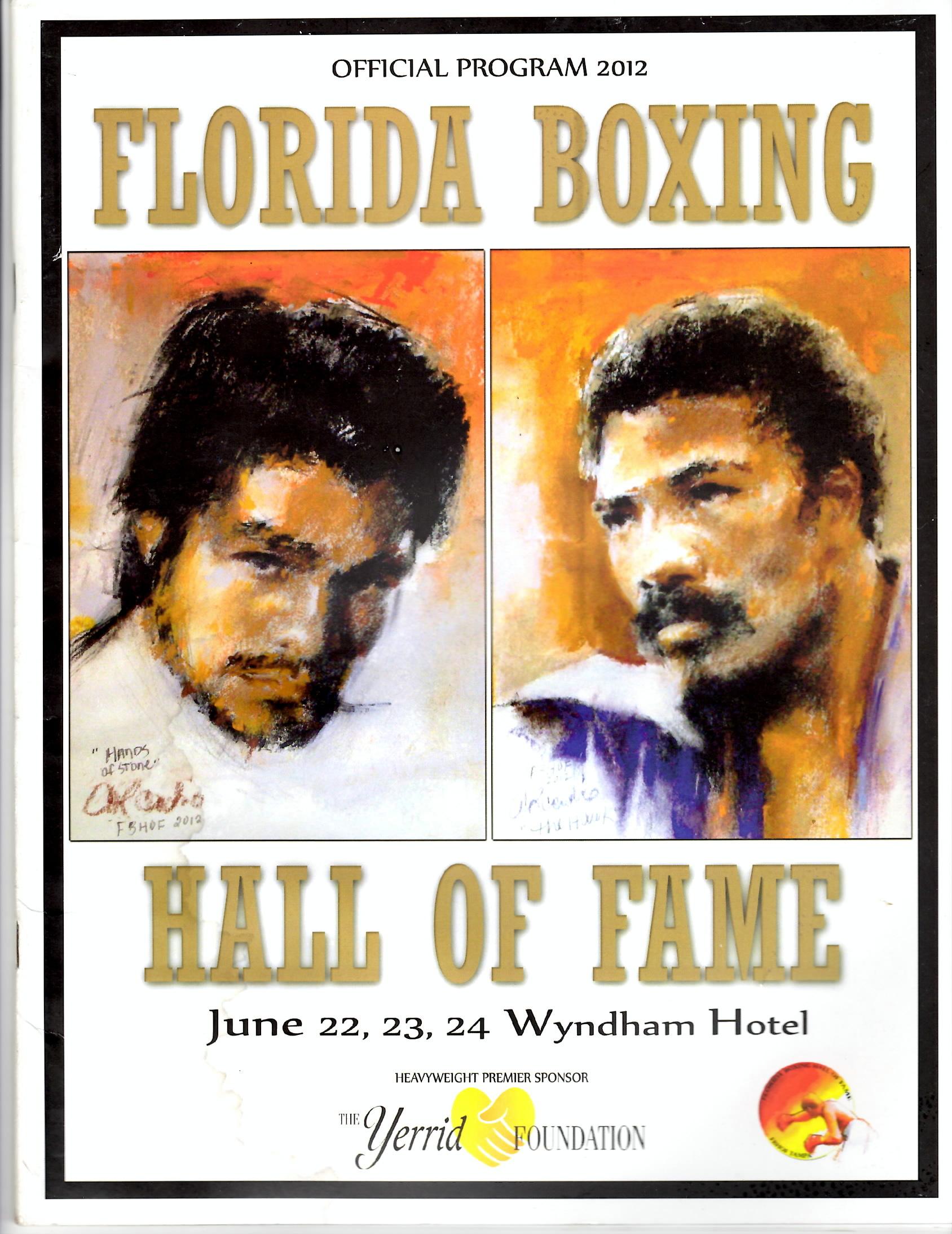 2012 Florida Boxing Hall of Fame Program