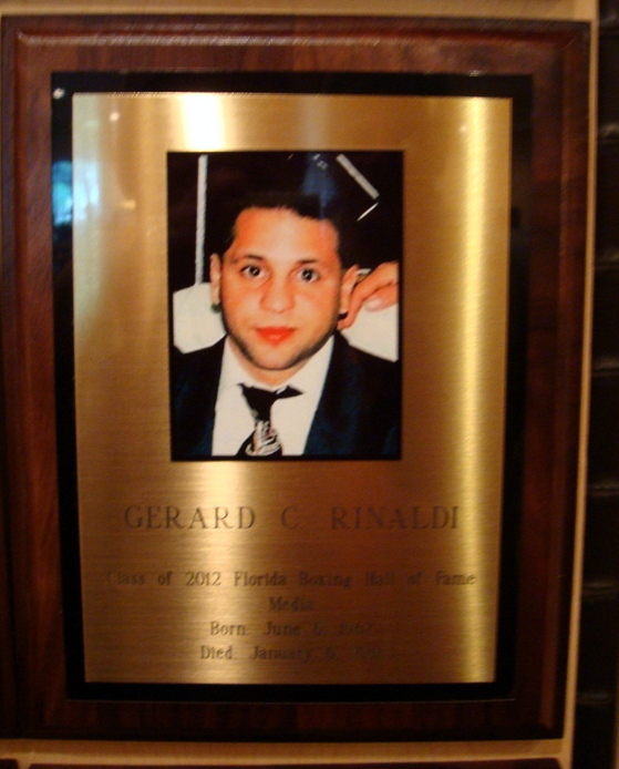 Gerard Rinaldi's Hall of Fame Induction (Press Photo for Video)