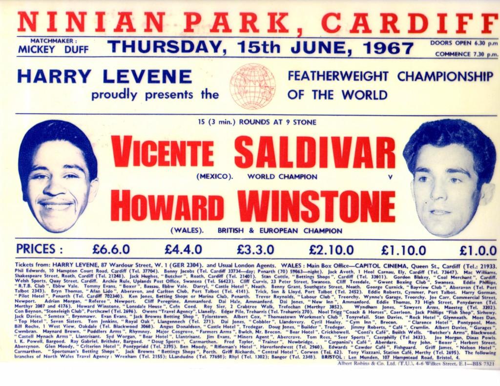 Salvador vs. Winstone Fight Poster