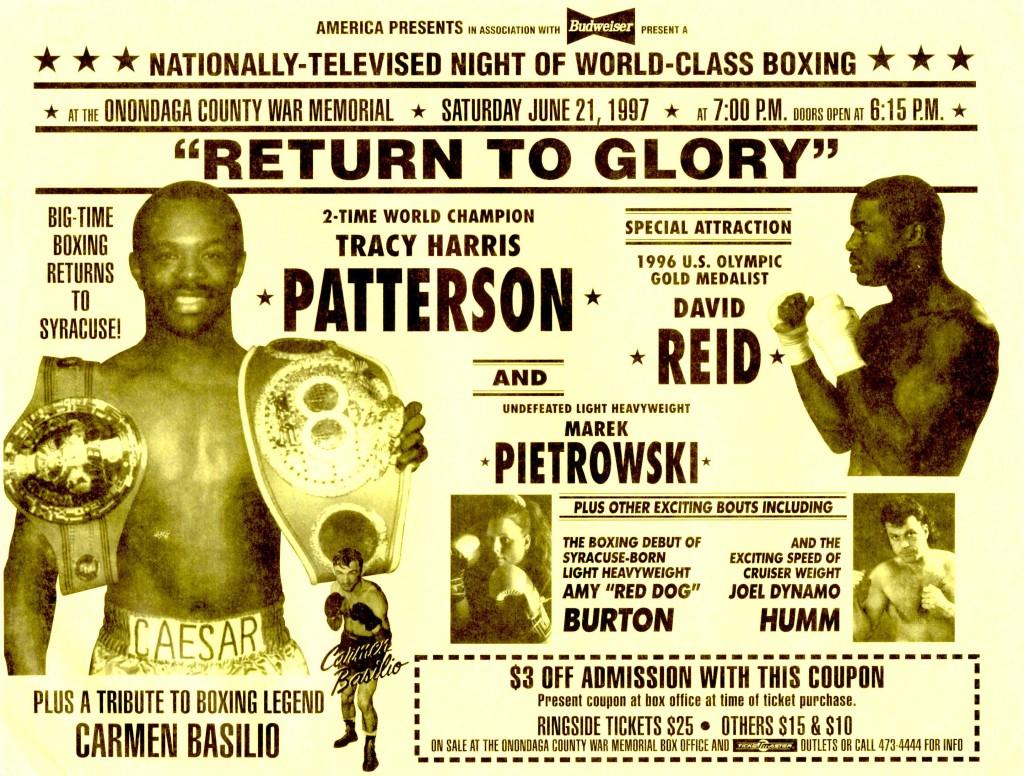 Patterson vs. Reid Fight Poster