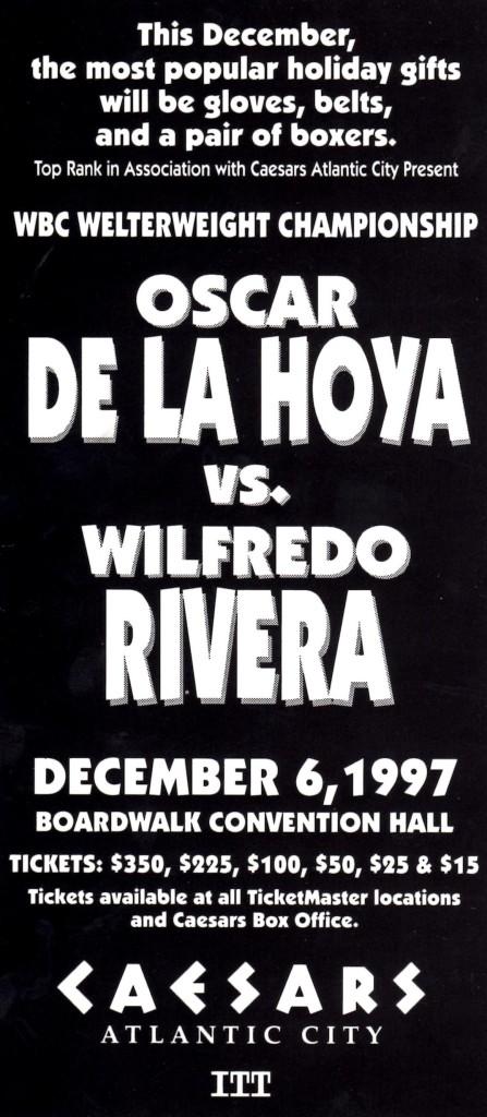 De La Hoya vs. Rivera Fight Program