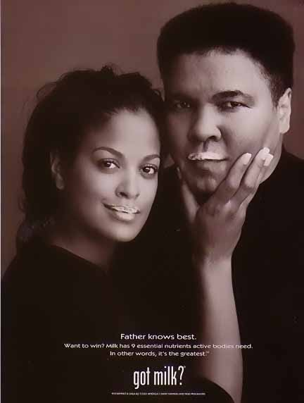 Muhammad and Laila Ali Milk Ad