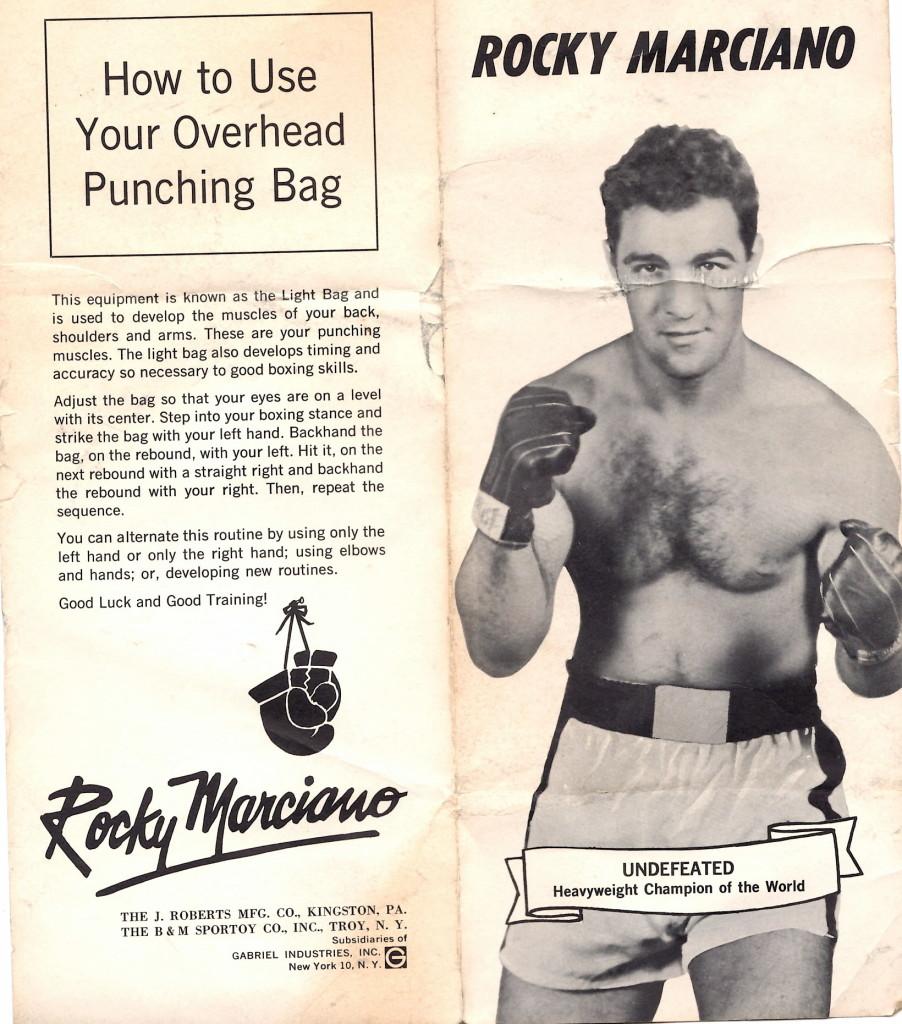 Rocky Marciano Punching Bag