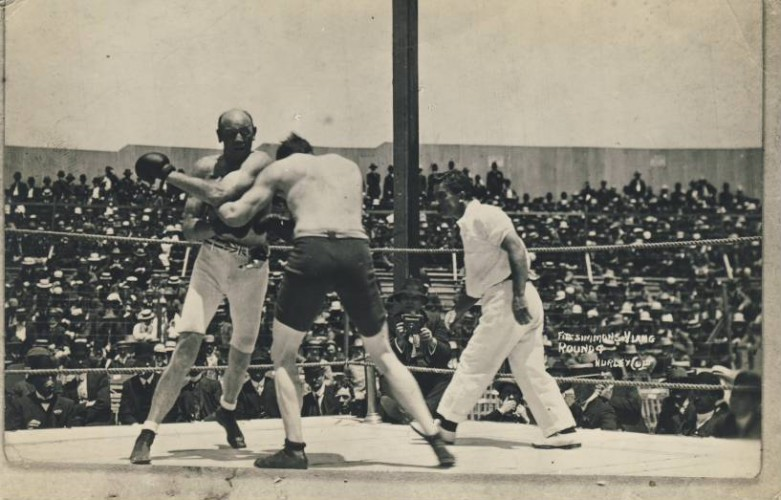 Fight Action Fitzsimmons-Lang 1909