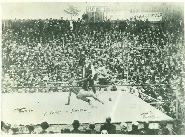 Fight Act3Fight Action Johnson-Ketchel 1909