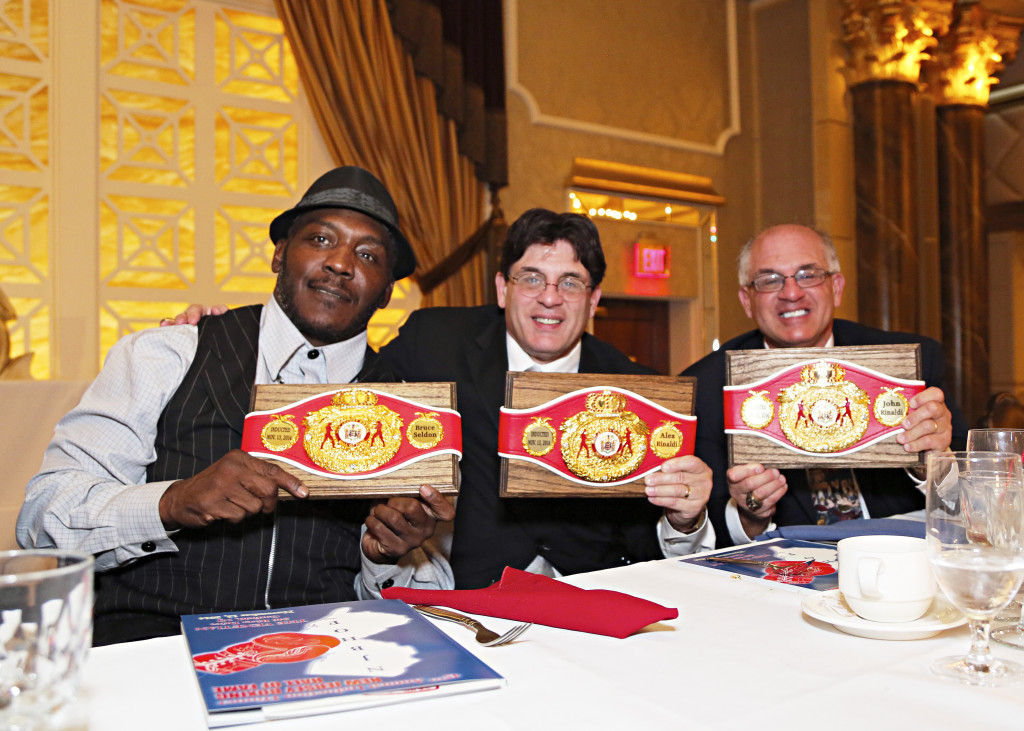 """The Boxing Twins with former Heavyweight Champion Bruce """"The Atlantic City Express"""" Seldon"""