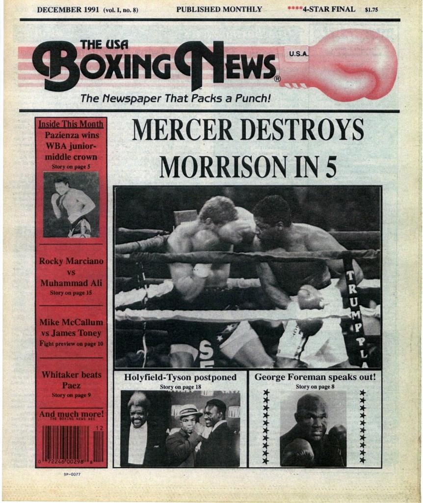 LLLLLLLLBoxing News December 1991 Cover