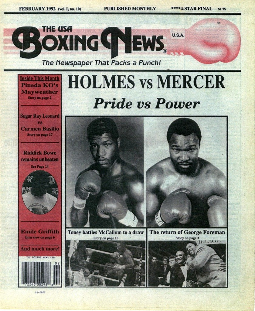 LLLLLLLLBoxing News February 1992 cover