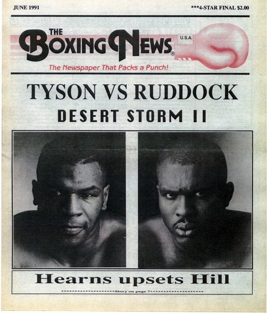 LLLLLLLLBoxing News June 1991 Cover