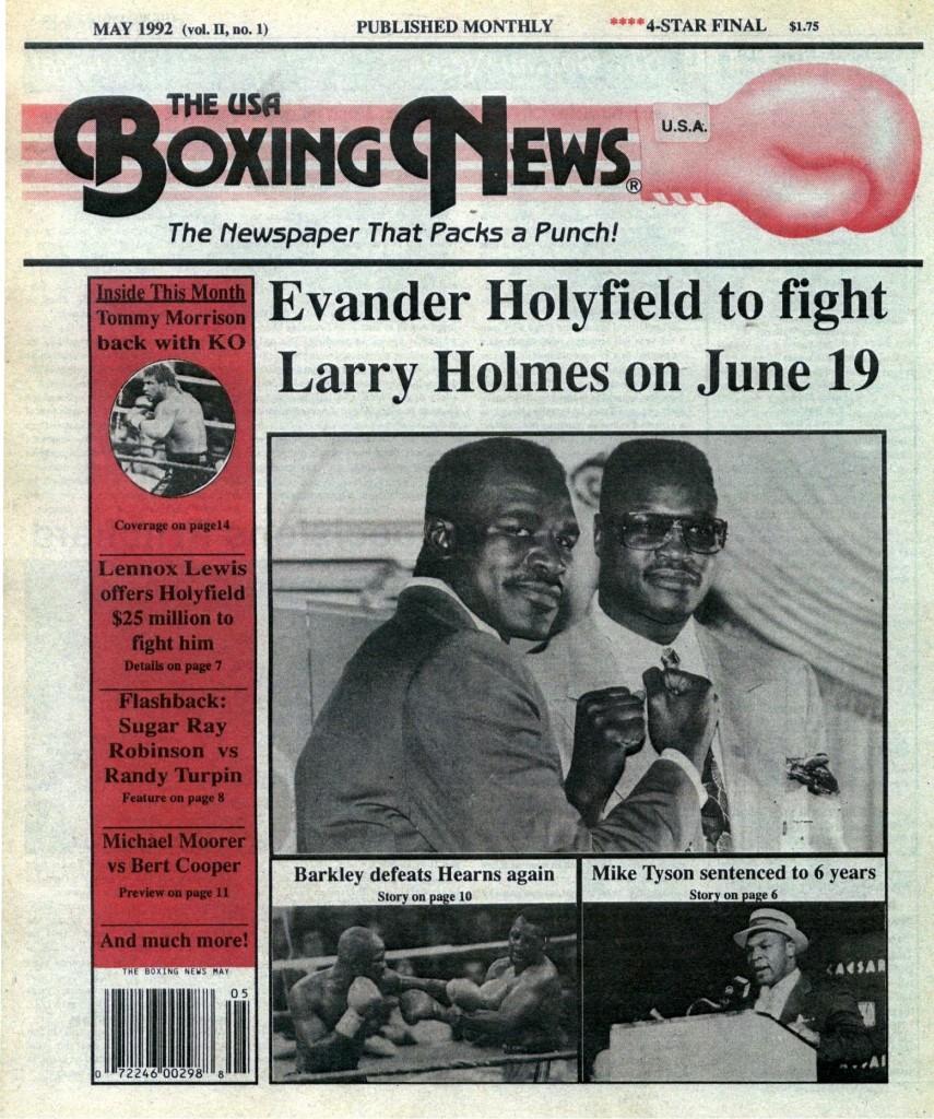 LLLLLLLLBoxing News May 1992 Cover