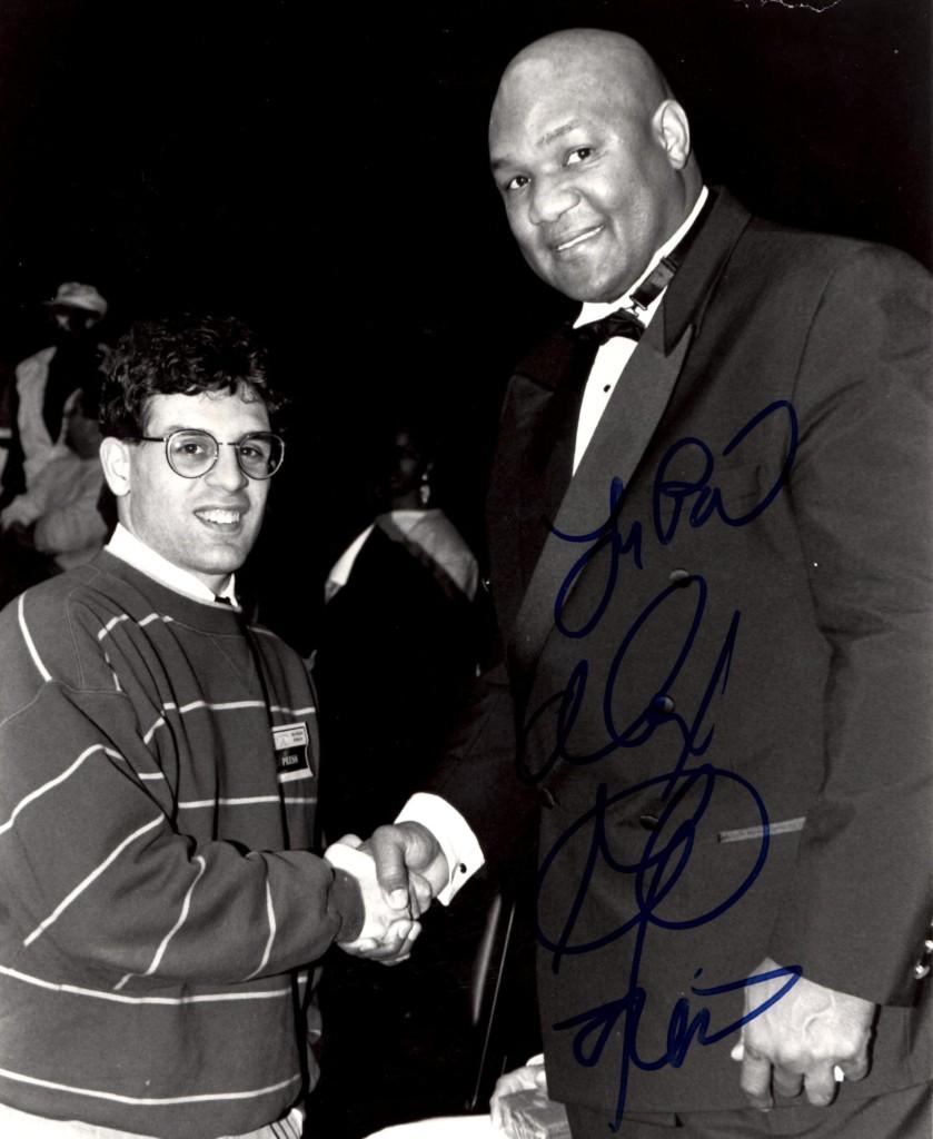 Alex Rinaldi with George Foreman