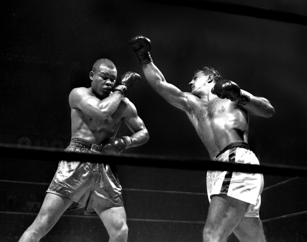 Joe Louis vs. Rocky Marciano on October 26, 1951 (CLICK PHOTO TO VIEW FIGHT CLIP)