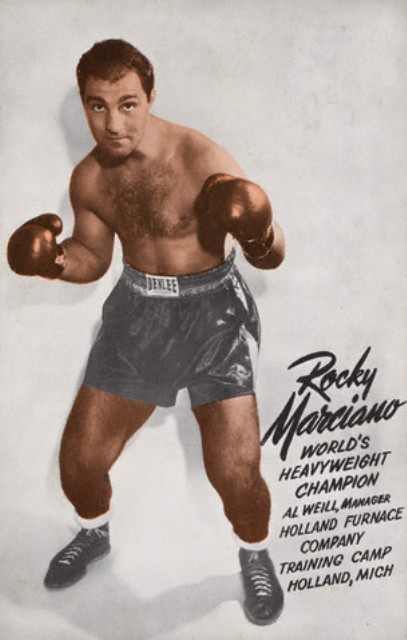 WWWWWWWWWWRocky Marciano postcard