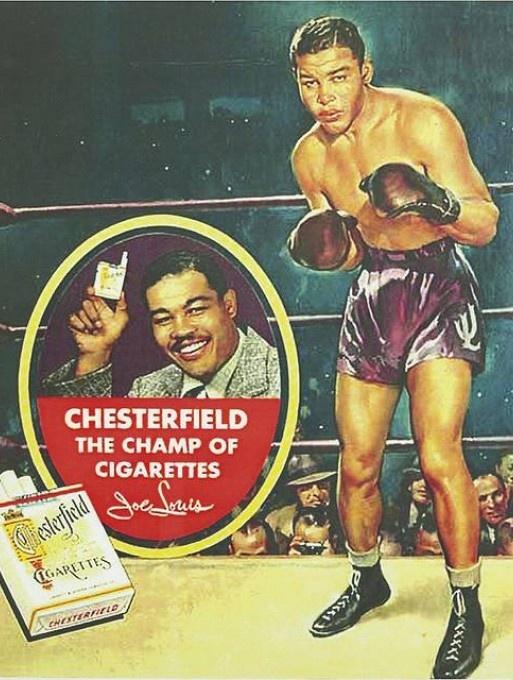 Joe Louis advertising Chesterfields