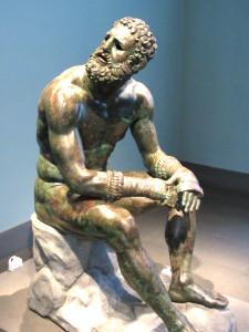Greek Boxing Statue