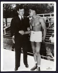 James J. Braddock with Joe Louis in training