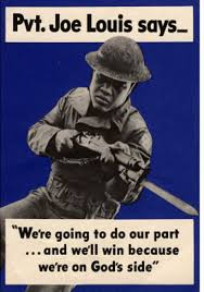 Joe Louis Army Recruiting Poster from the 1940's