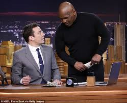 Mike Tyson with Late Night host Jimmy Fallon