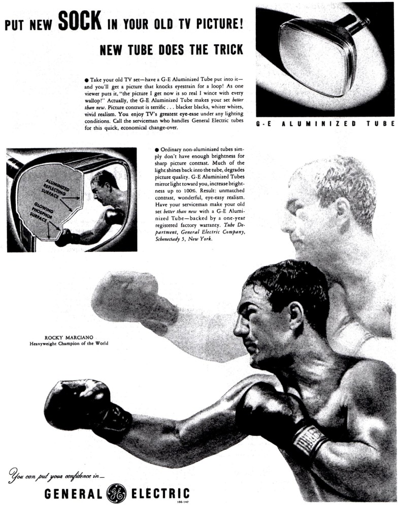 Rocky Marciano General Elctric Televison Ad from the 1950's