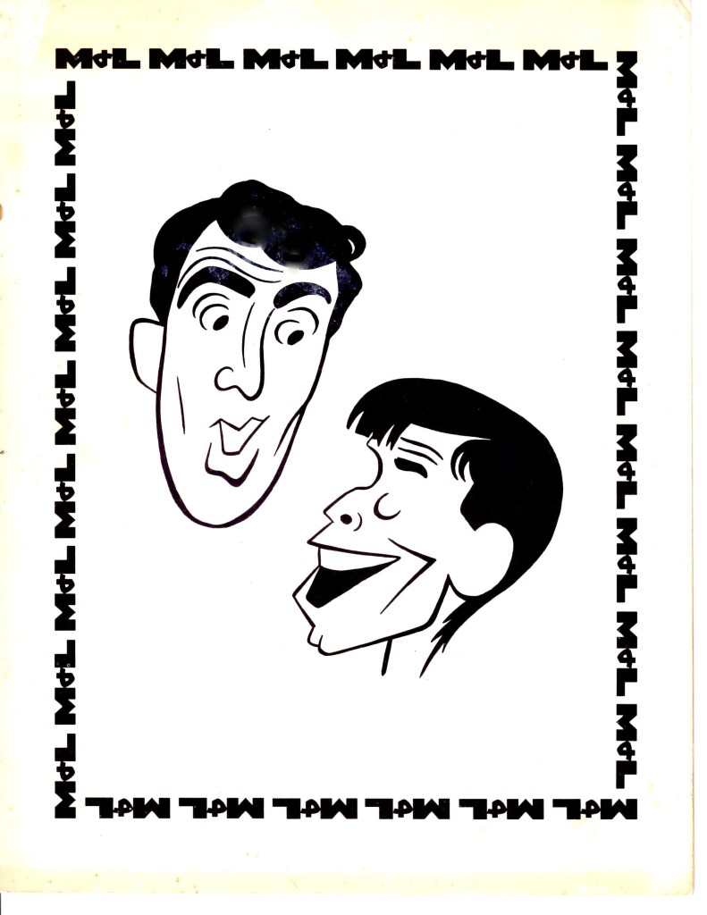 Dean Martin and Jerry Lewis caricatures